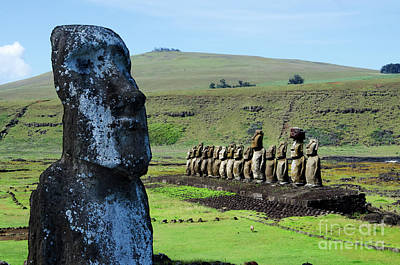 Photograph - Moai Easter Island Rapa Nui 5 by Bob Christopher