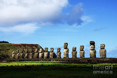 Photograph - Moai Easter Island Rapa Nui 6 by Bob Christopher