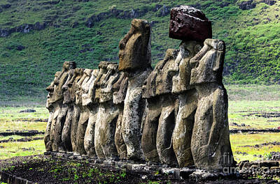 Photograph - Moai Easter Island Rapa Nui 7 by Bob Christopher