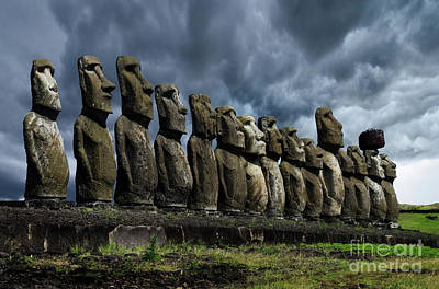 Photograph - Moai Easter Island Rapa Nui 9 by Bob Christopher