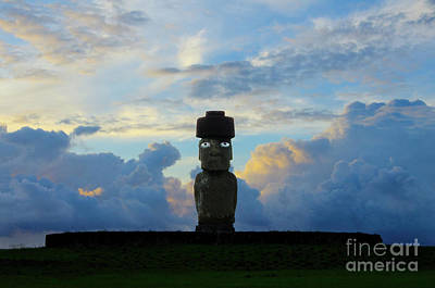 Photograph - Moai Easter Island Rapa Nui by Bob Christopher