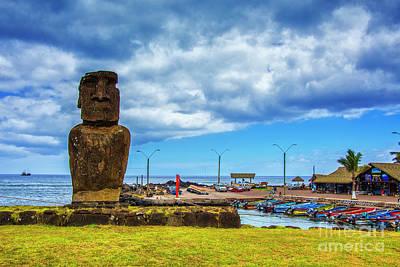 Photograph - Moai Harbor by Rick Bragan