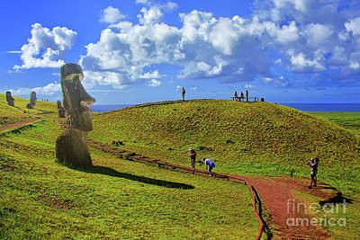 Photograph - Moai Path by Rick Bragan