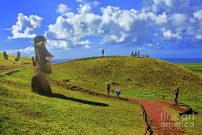 Photograph - Moai Path by Rick Bragan
