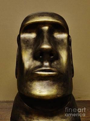 Ceramic Art - Moai by Paula Ludovino