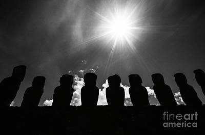 Photograph - Moai Rapa Nui 2 by Bob Christopher