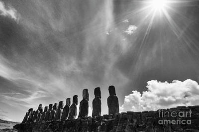 Photograph - Moai Rapa Nui 3 by Bob Christopher