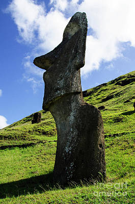 Photograph - Moai Rapa Nui 5 by Bob Christopher