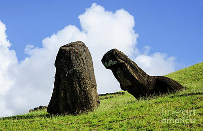 Photograph - Moai Rapa Nui 7 by Bob Christopher