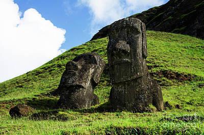 Photograph - Moai Rapa Nui 8 by Bob Christopher