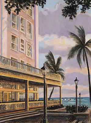 Lightpost Painting - Moana At Sunset by Patti Bruce - Printscapes