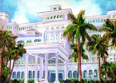 Moana Surfrider Hotel On Waikiki Beach #206 Art Print by Donald k Hall