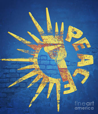 Sunshine Digital Art - Moar Peace by Laura Brightwood