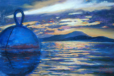 Painting - Moaring Ball Overlooking St. John by Billie Colson