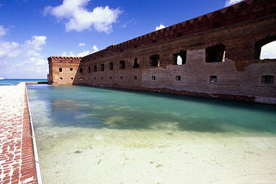 Moat Of A Brick Fort Fort Jefferson Art Print by George Oze