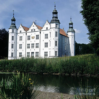 Moated Manor House Art Print by Heiko Koehrer-Wagner