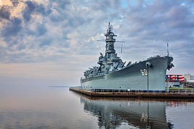 Photograph - Mobile Bay And The Uss Alabama by JC Findley