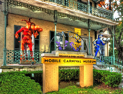 Photograph - Mobile Carnival Museum Red Guy by Michael Thomas