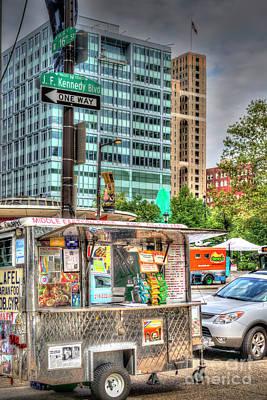 Photograph - Mobile Food Cart Downtown by David Zanzinger