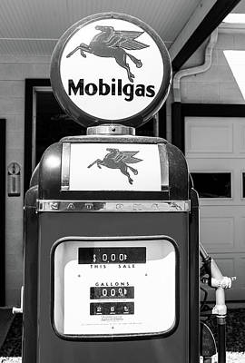 Photograph - Mobilgas Bw 082916 by Rospotte Photography
