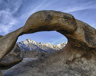 Photograph - Mobius Arch And Lone Pine Mt. by Cheryl Strahl