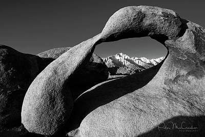 Mobius Arch Black And White Art Print by Peter McCracken