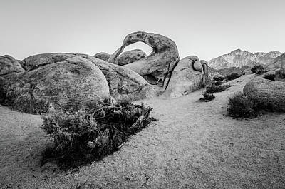 Photograph - Mobius Arch In Monochrome by Margaret Pitcher