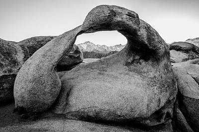 Photograph - Mobius Arch In Monochrome No.2 by Margaret Pitcher