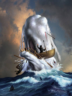 Oars Digital Art - Moby Dick 1 by Jerry LoFaro