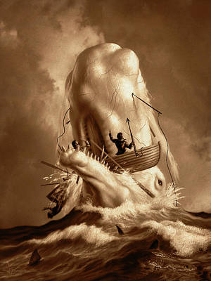 Oars Digital Art - Moby Dick 2 by Jerry LoFaro