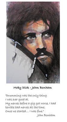 Drummer Painting - Moby Dick - John Bonham Quote by William Walts