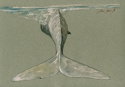 Moby Dick The White Sperm Whale  Original by Juan  Bosco