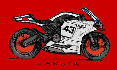 Digital Art - Moby Duc by Jakusa Design
