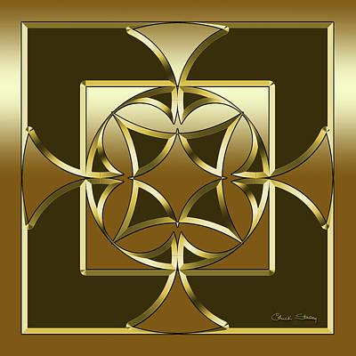 Digital Art - Mocha 1 - Square by Chuck Staley