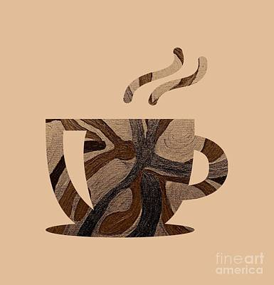 Digital Art - Mocha Java Swirl by Rachel Hannah