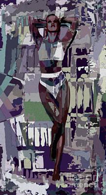 Painting - Mocha Musing by Tlynn Brentnall