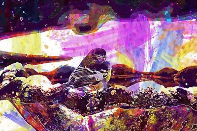 Mockingbird Digital Art - Mockingbird Bird Avian Gray  by PixBreak Art