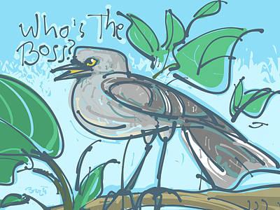Mockingbird Drawing - Mockingbird by Brett LaGue