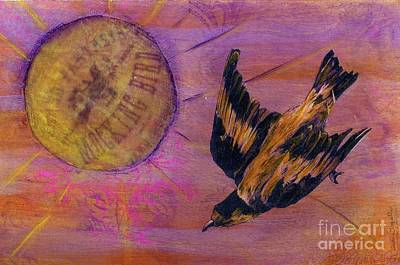 Art Print featuring the mixed media Mockingbird by Desiree Paquette