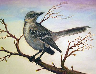 Mockingbird Painting - Mockingbird by Forrest C Greenslade PhD