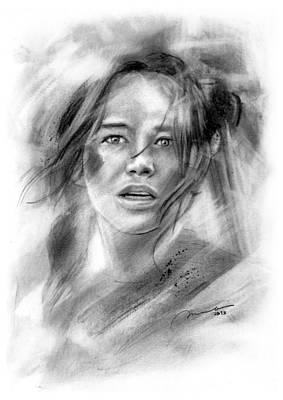 Mockingjay - Katniss Everdeen Print by Michael George Escolano