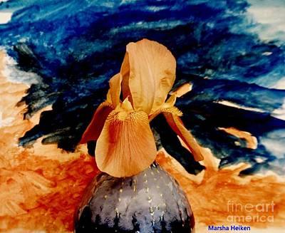 Painting - Mod Iris by Marsha Heiken