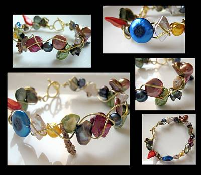 Wire Wrap Bracelet Jewelry - Mod Meets Vintage by Menucha Citron