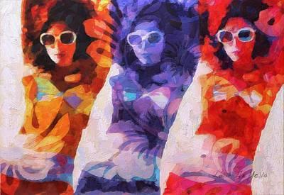 Painting - Mod Squad by Lelia DeMello