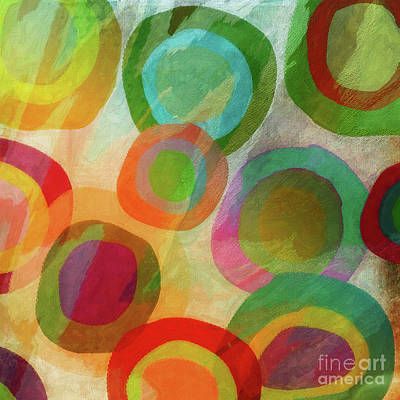 Abstract Pop Painting - Mod Target by Mindy Sommers