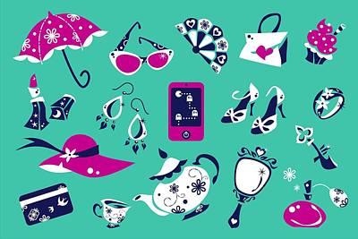Moda Abbigliamento Donna - Borse E Scarpe - Online Shop Art Print by Arte Venezia