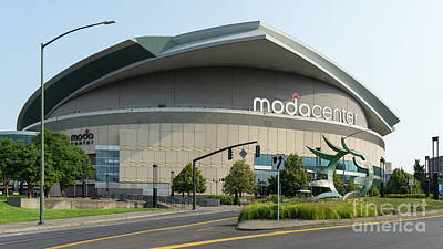 Photograph - Moda Center Portland Trail Blazers Basketball Arena Portland Oregon Dsc6423 by Wingsdomain Art and Photography