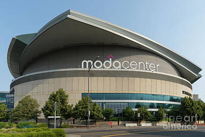 Photograph - Moda Center Portland Trail Blazers Basketball Arena Portland Oregon Dsc6424 by Wingsdomain Art and Photography