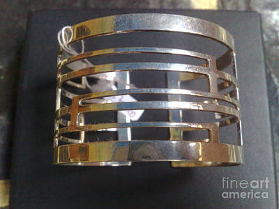 Sterling Silver With Ceramics Jewelry - Model 1 - Ss Plain Cuff With Home Gate Entrance Desings by fmnjewel - Fernando Situmeang