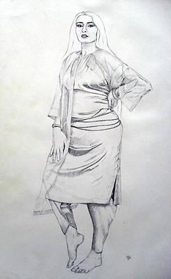 Waist Beads Drawing - Model 548 by Mohd Raza-ul Karim